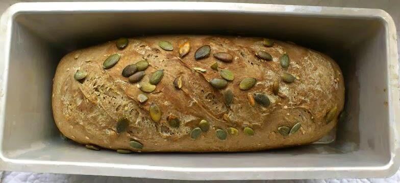 Pane nero ai sette cereali veloce e semplice