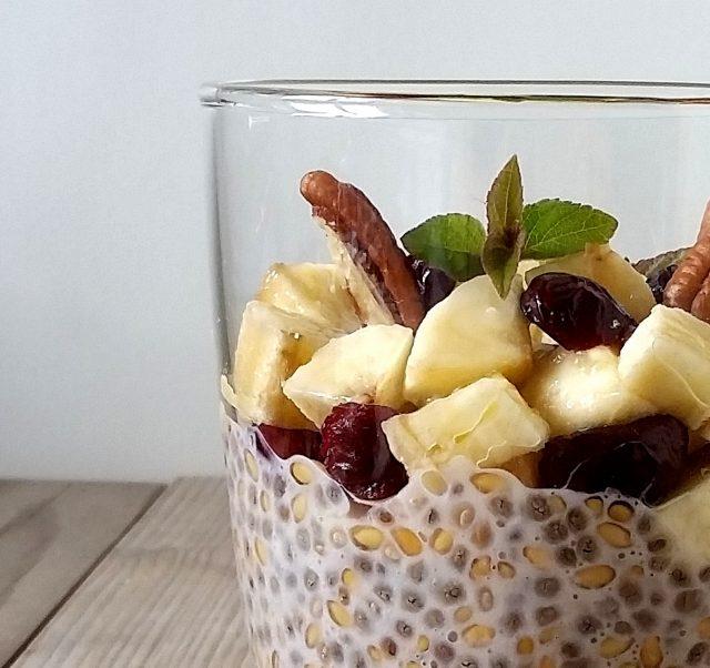 budino semi chia, lino e banana (15)
