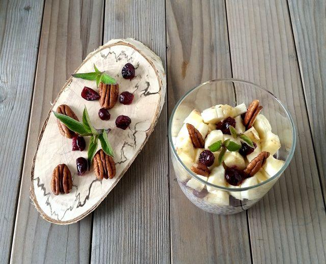 budino semi chia, lino e banana (22)
