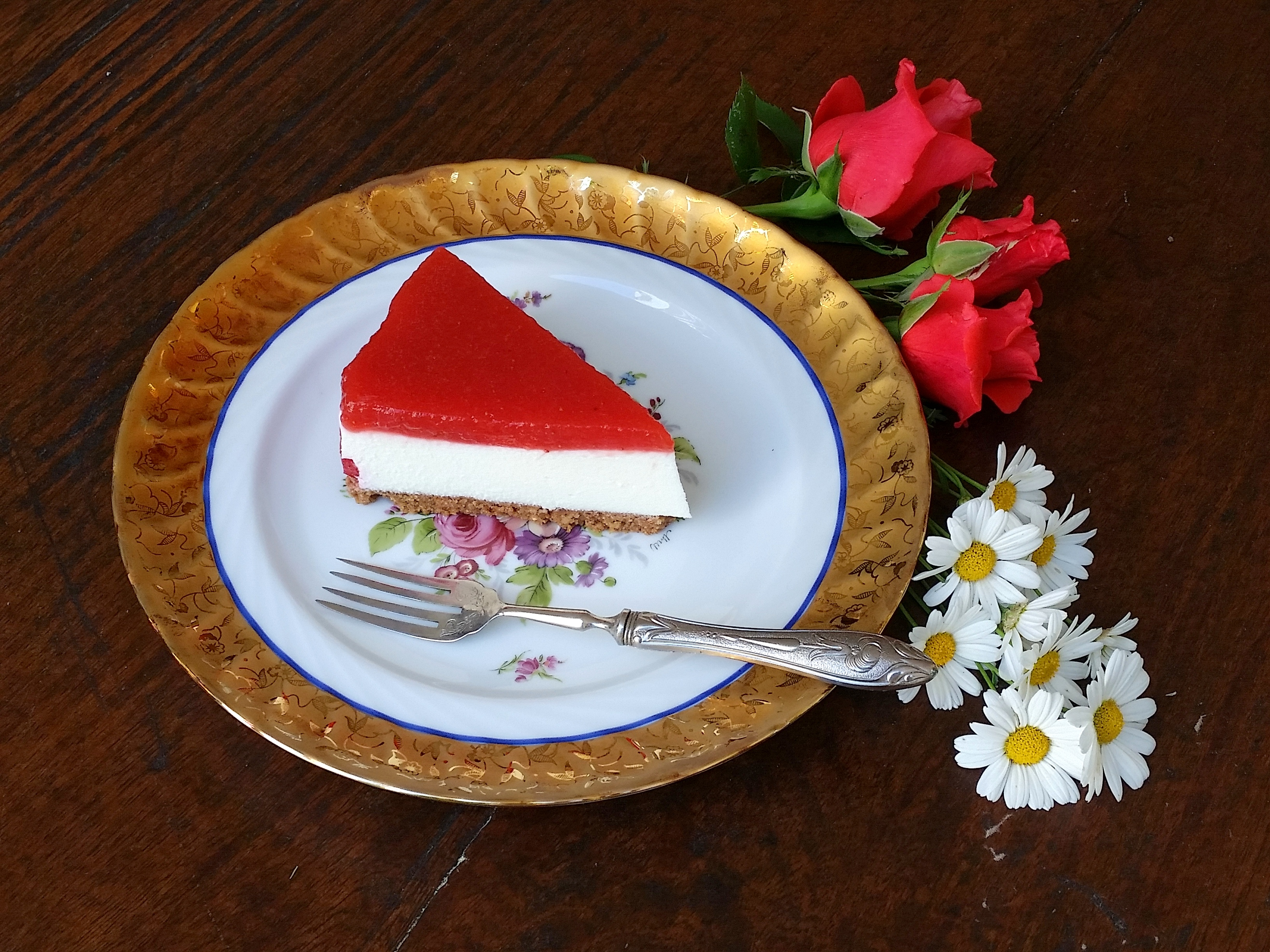 Strawberry Cheesecake without cooking – In Cucina con Ninaluna